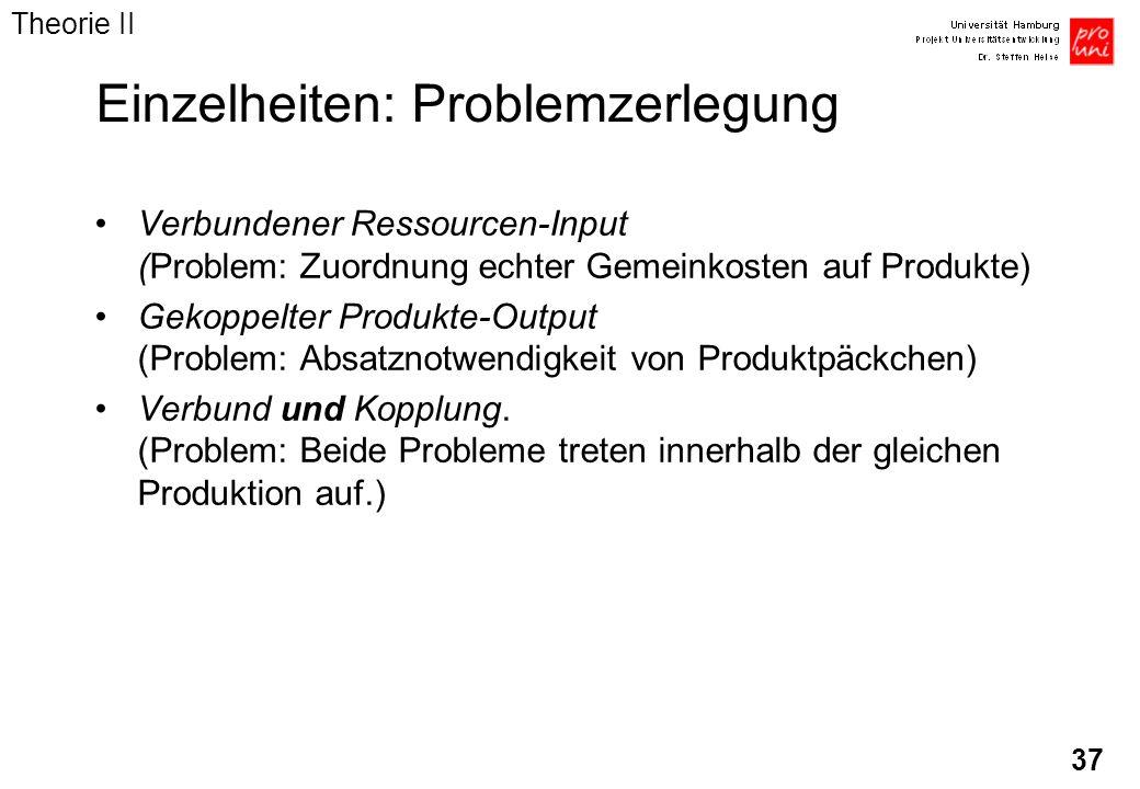 Einzelheiten: Problemzerlegung