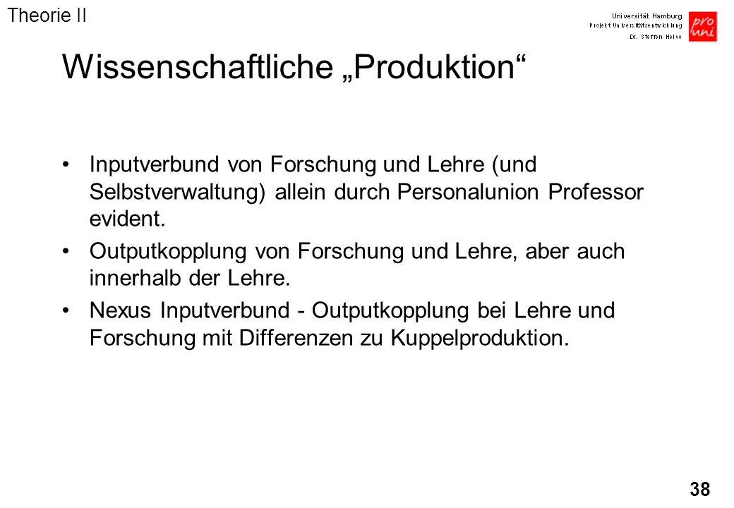 """Wissenschaftliche """"Produktion"""