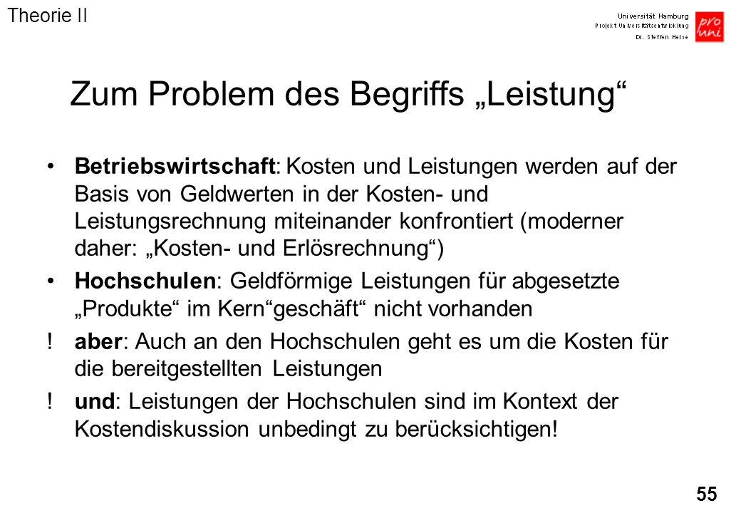 """Zum Problem des Begriffs """"Leistung"""