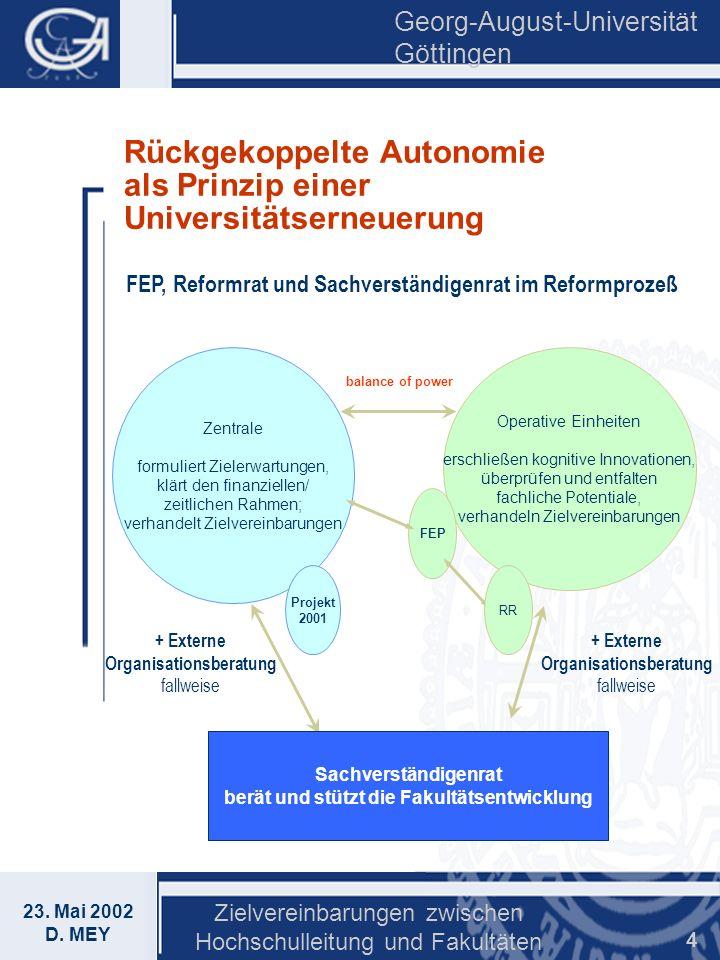 Rückgekoppelte Autonomie als Prinzip einer Universitätserneuerung