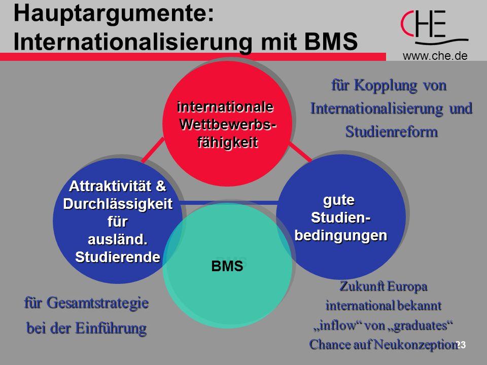 Hauptargumente: Internationalisierung mit BMS