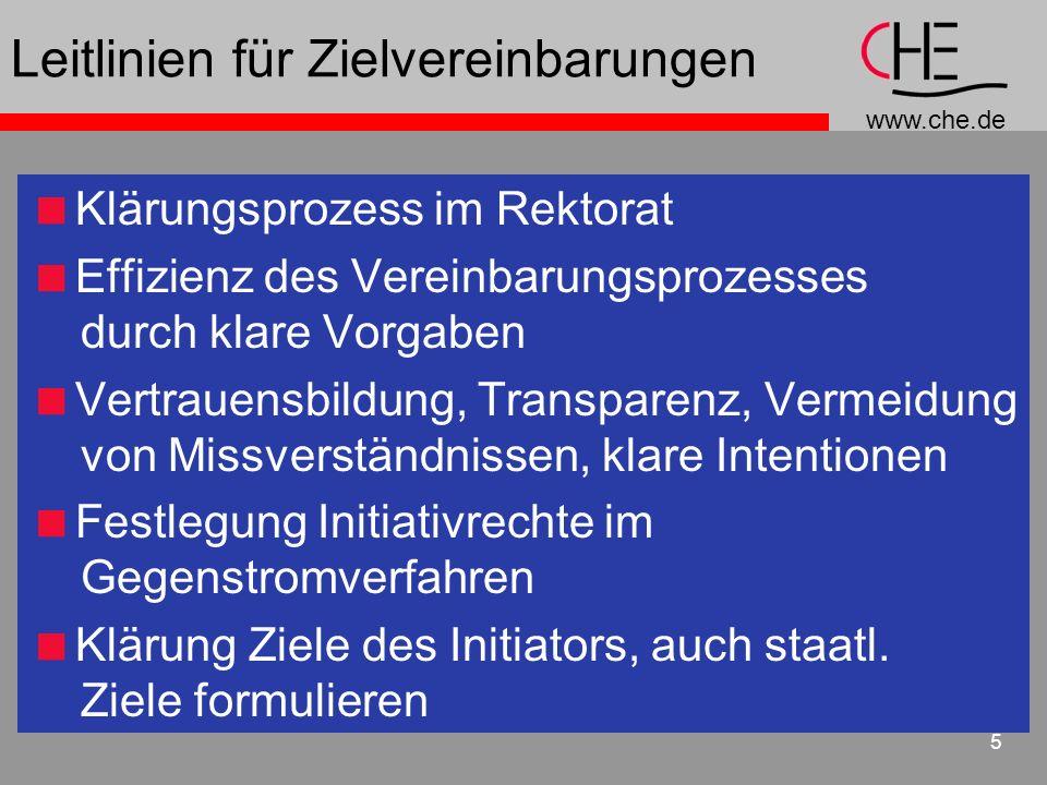 Leitlinien für Zielvereinbarungen