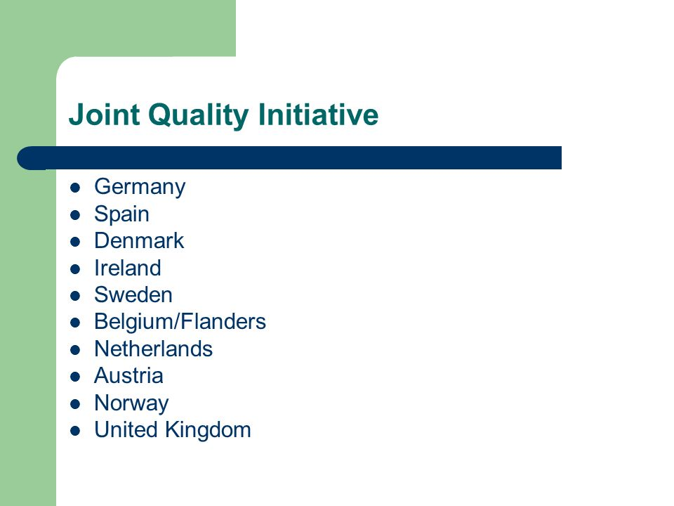 Joint Quality Initiative