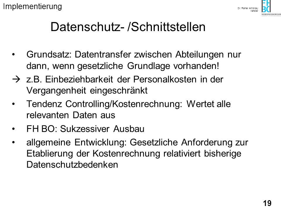 Datenschutz- /Schnittstellen