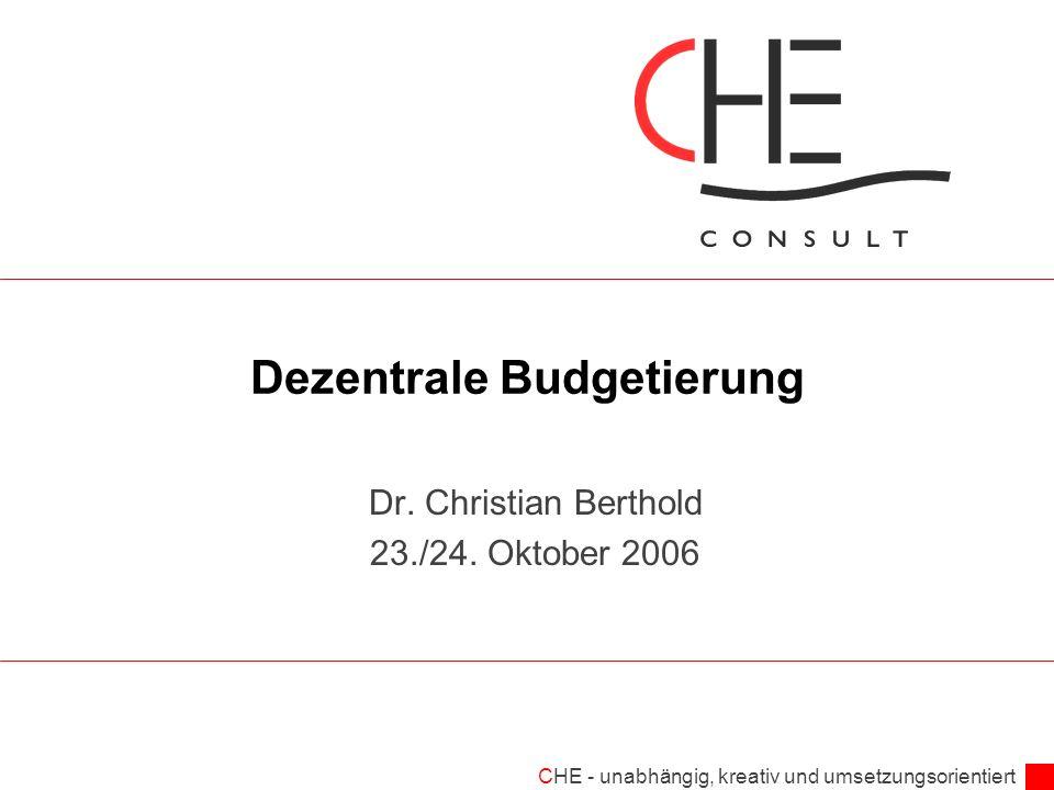 Dezentrale Budgetierung