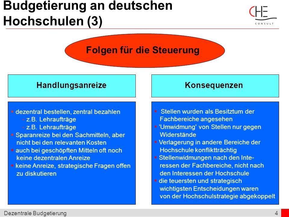 Budgetierung an deutschen Hochschulen (3)