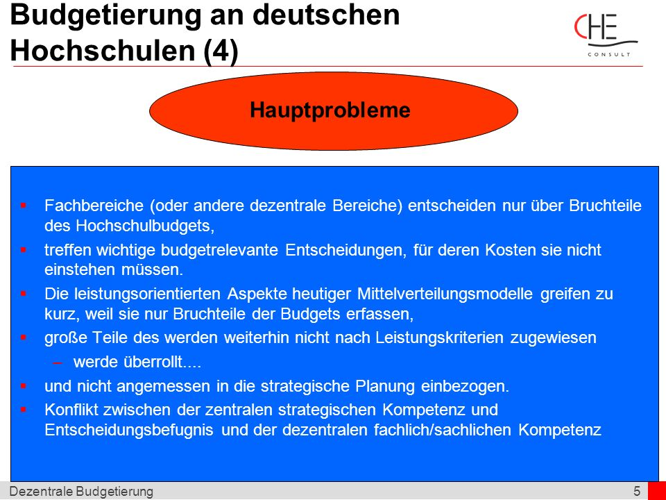 Budgetierung an deutschen Hochschulen (4)