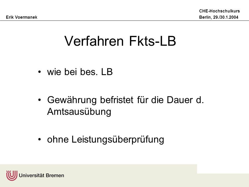 Verfahren Fkts-LB wie bei bes. LB