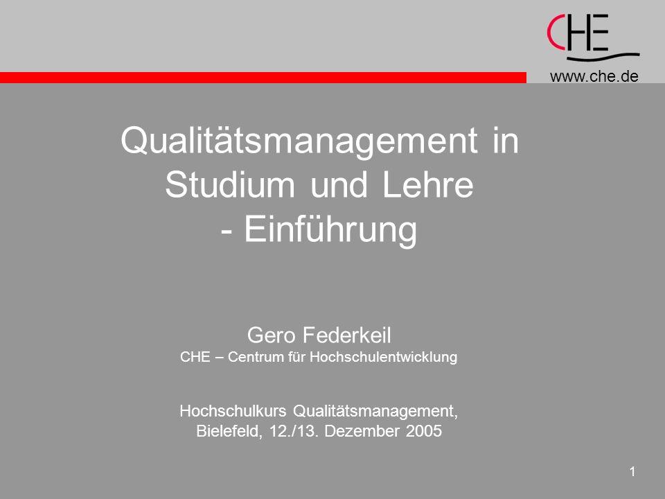 Qualitätsmanagement in Studium und Lehre - Einführung