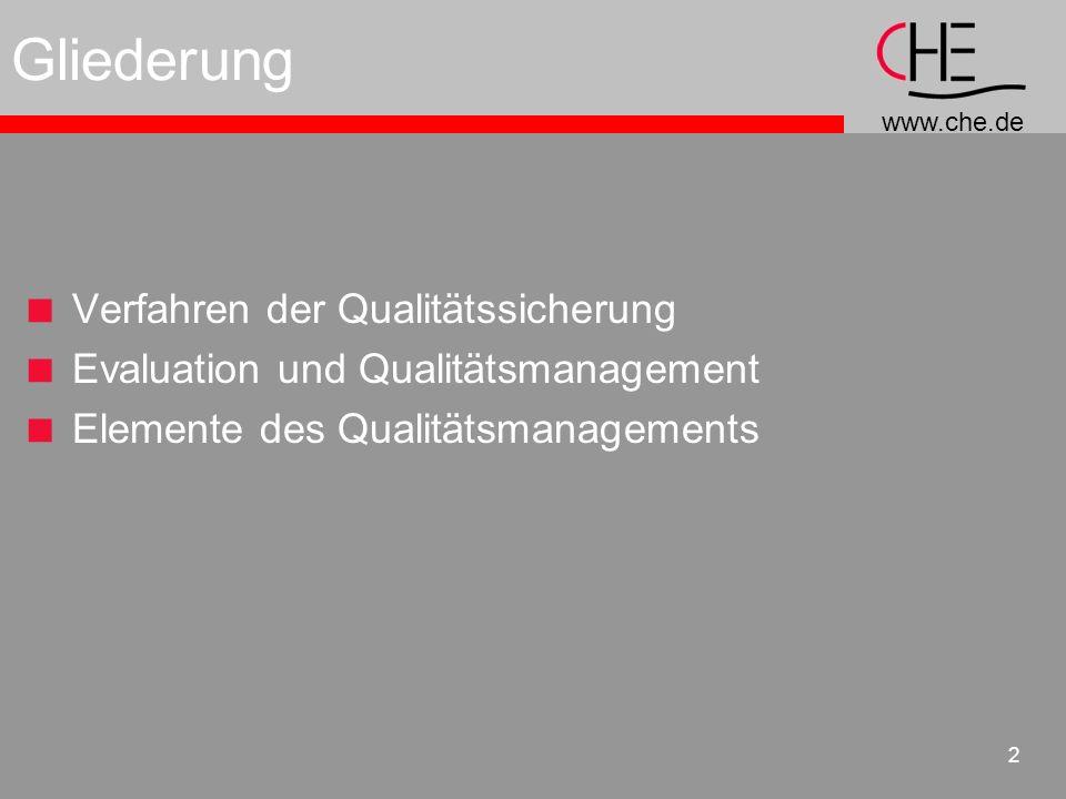 Gliederung Verfahren der Qualitätssicherung