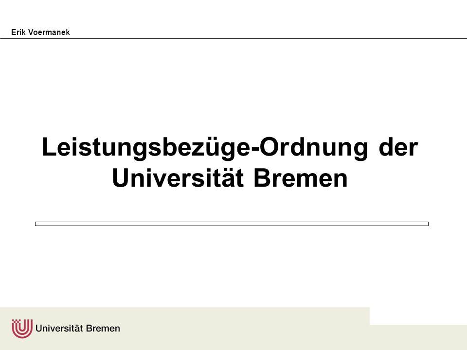 Leistungsbezüge-Ordnung der Universität Bremen