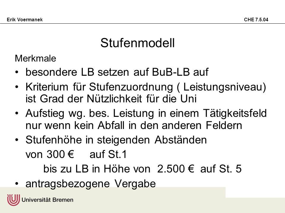 Stufenmodell besondere LB setzen auf BuB-LB auf