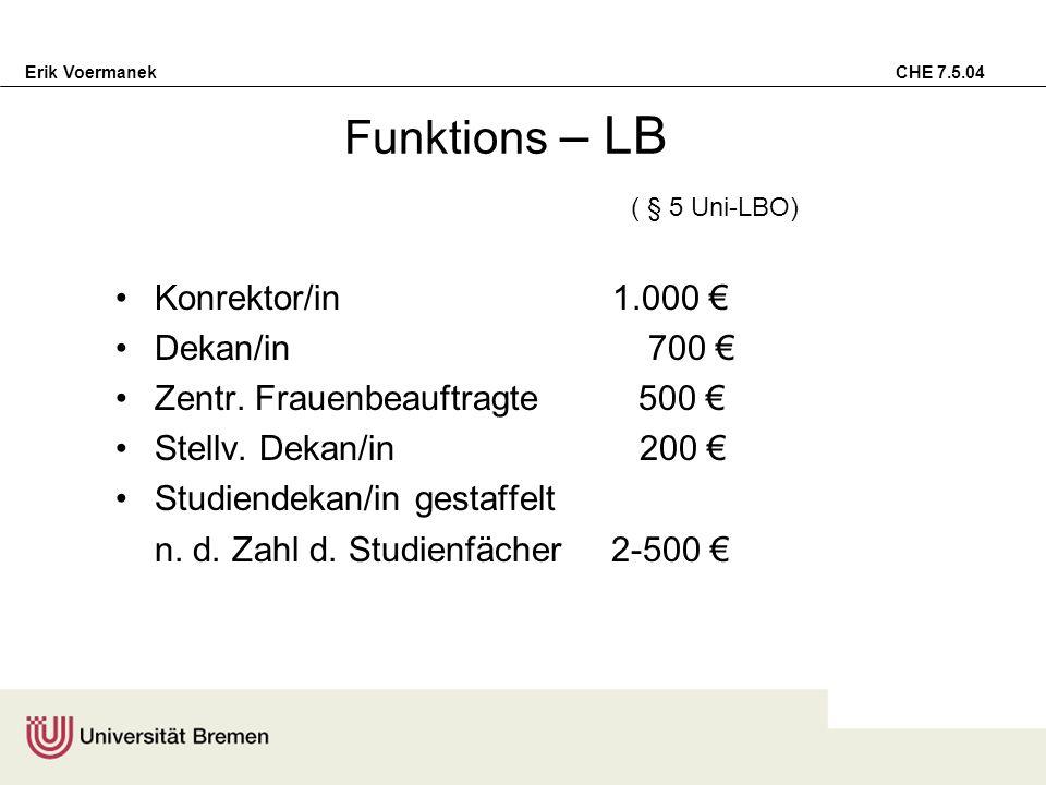 Funktions – LB ( § 5 Uni-LBO)