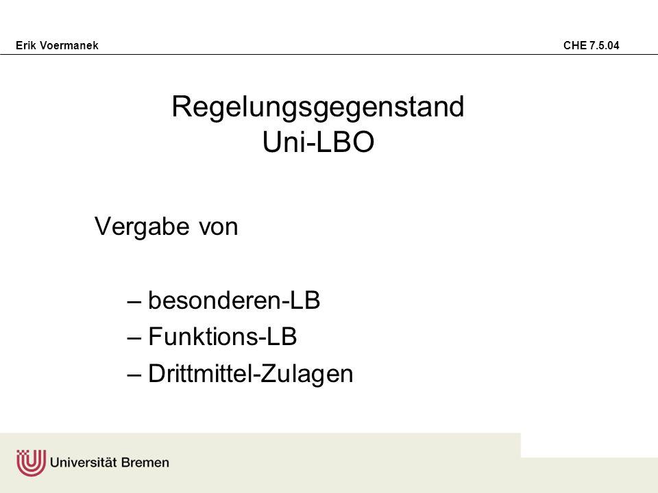 Regelungsgegenstand Uni-LBO