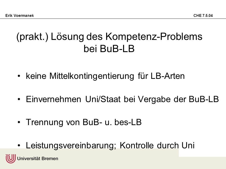 (prakt.) Lösung des Kompetenz-Problems bei BuB-LB