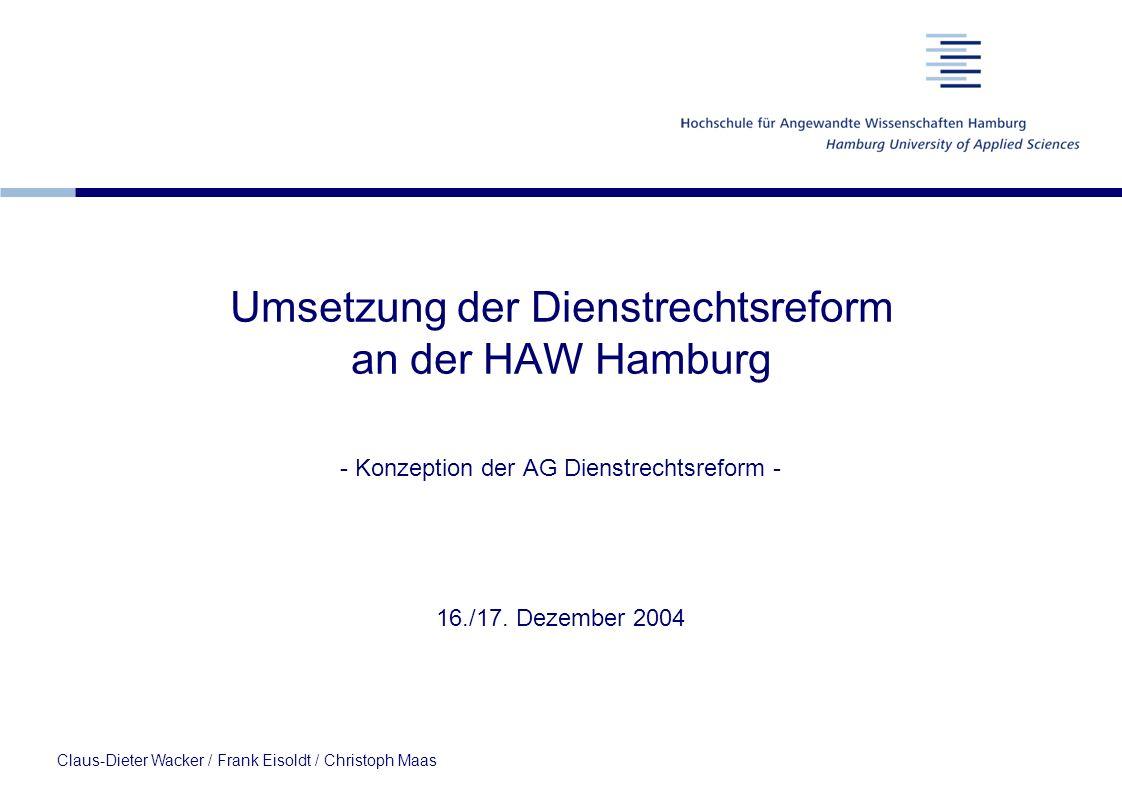 Umsetzung der Dienstrechtsreform an der HAW Hamburg