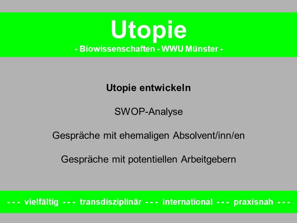 - Biowissenschaften - WWU Münster -