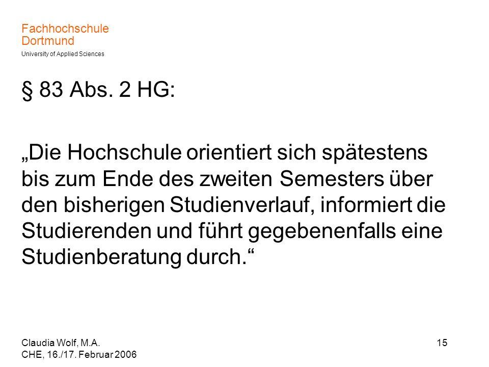 § 83 Abs. 2 HG: