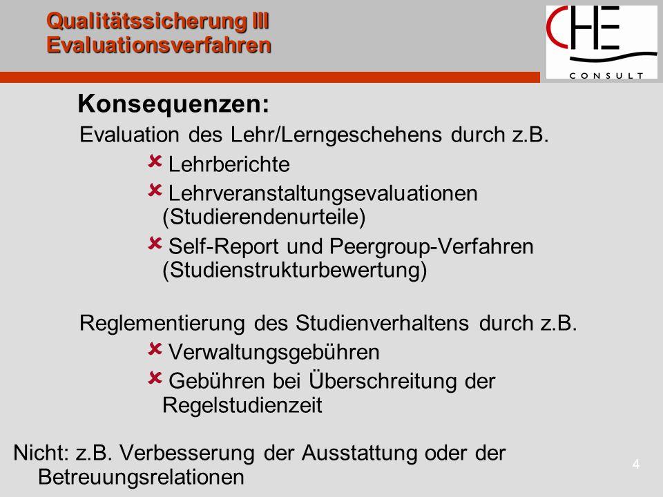 Qualitätssicherung III Evaluationsverfahren