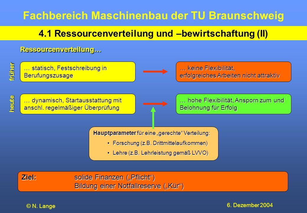 4.1 Ressourcenverteilung und –bewirtschaftung (II)