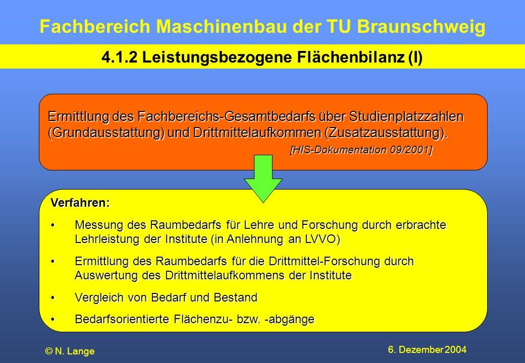 4.1.2 Leistungsbezogene Flächenbilanz (I)