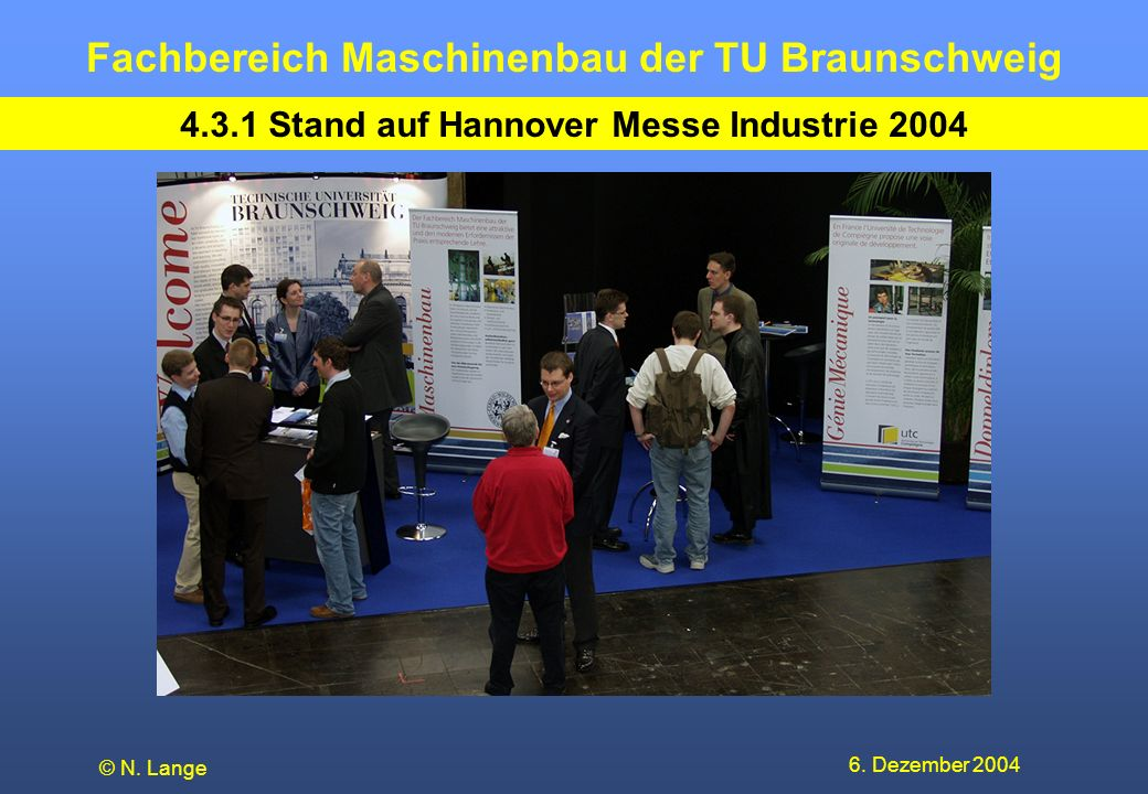 4.3.1 Stand auf Hannover Messe Industrie 2004
