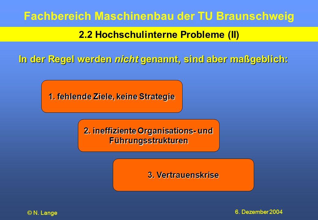 2.2 Hochschulinterne Probleme (II)