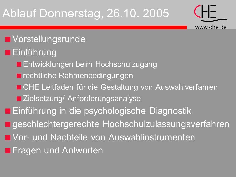 Ablauf Donnerstag, 26.10. 2005 Vorstellungsrunde Einführung