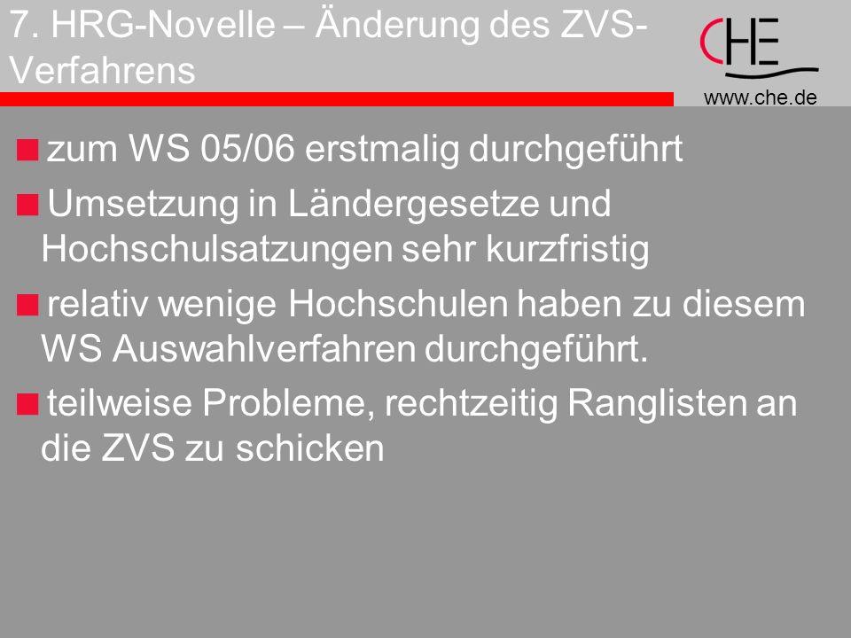 7. HRG-Novelle – Änderung des ZVS-Verfahrens