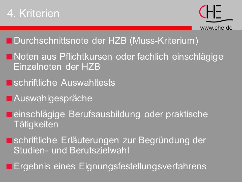 4. Kriterien Durchschnittsnote der HZB (Muss-Kriterium)