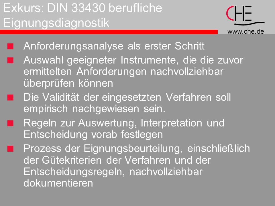 Exkurs: DIN 33430 berufliche Eignungsdiagnostik