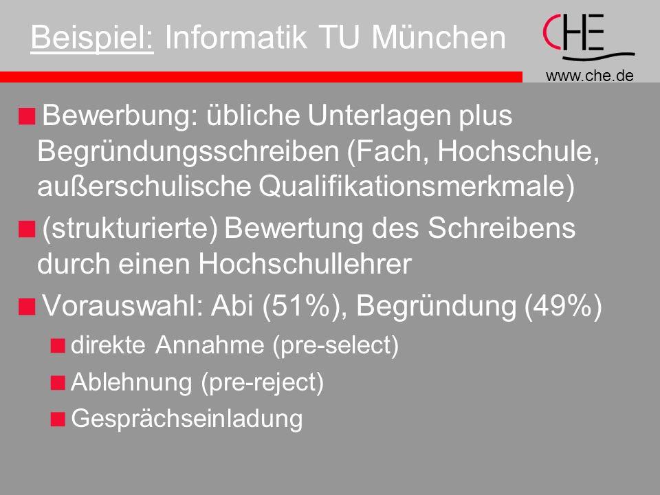 Beispiel: Informatik TU München