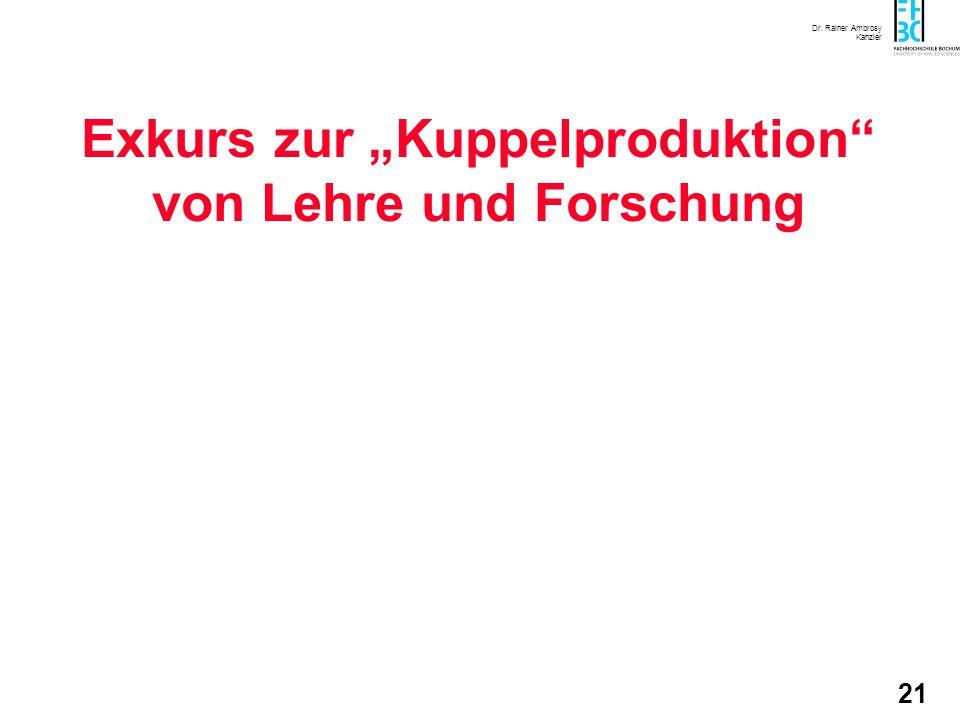 """Exkurs zur """"Kuppelproduktion von Lehre und Forschung"""