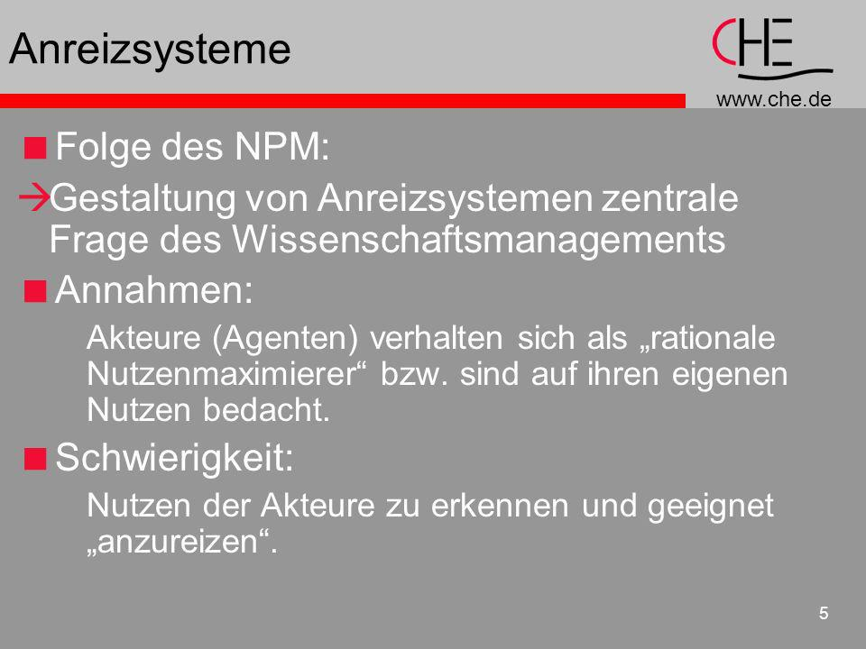 Anreizsysteme Folge des NPM: