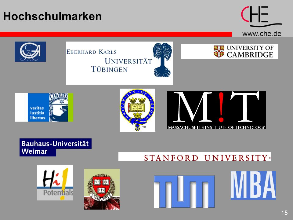 Hochschulmarken Beispiele für Marken im Hochschulbereich