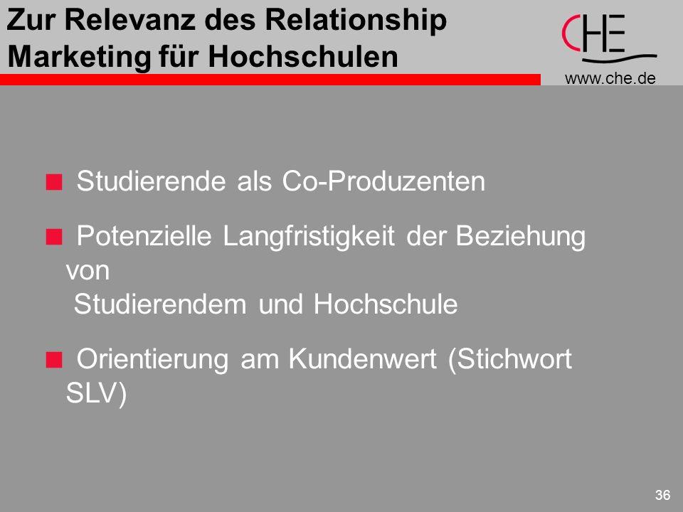 Zur Relevanz des Relationship Marketing für Hochschulen