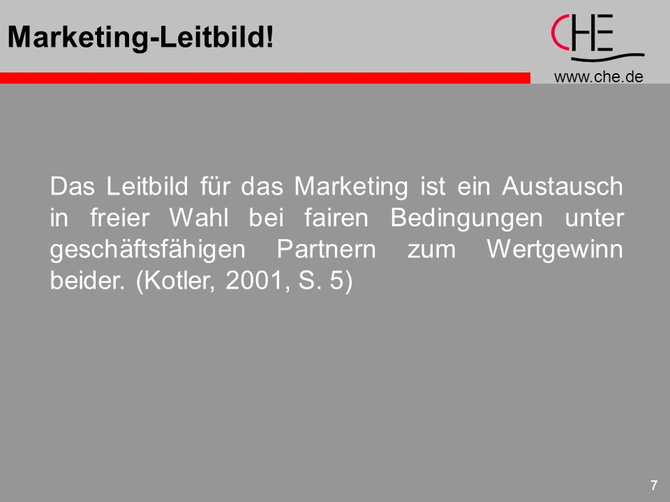 Marketing-Leitbild!