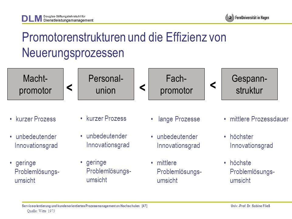 Promotorenstrukturen und die Effizienz von Neuerungsprozessen