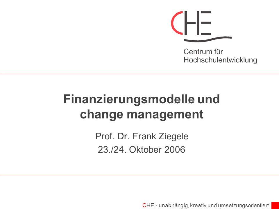 Finanzierungsmodelle und change management
