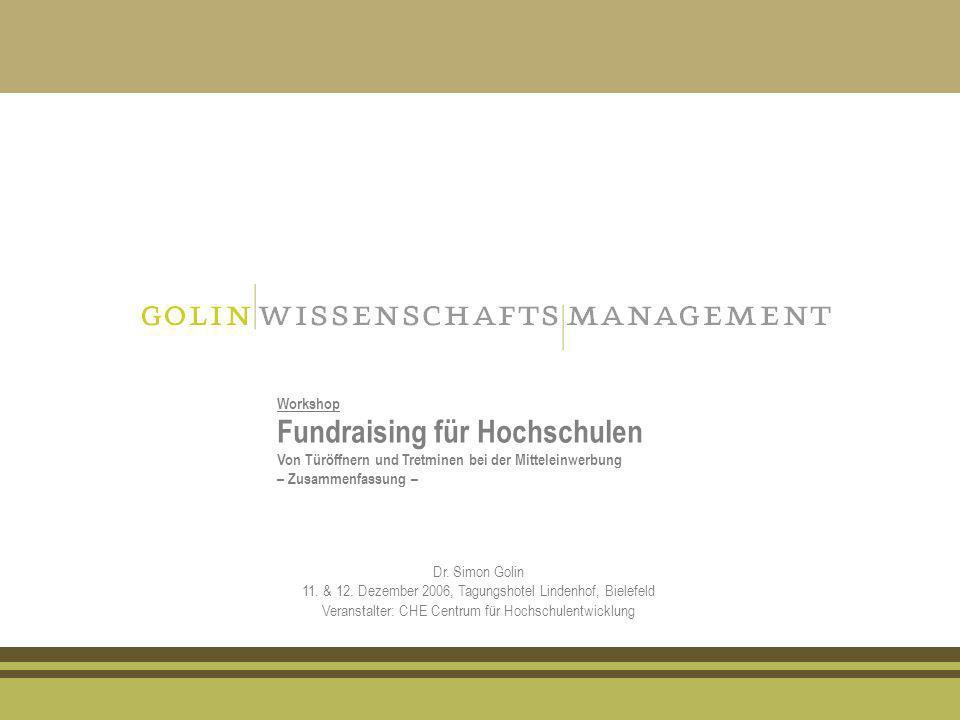 Fundraising für Hochschulen