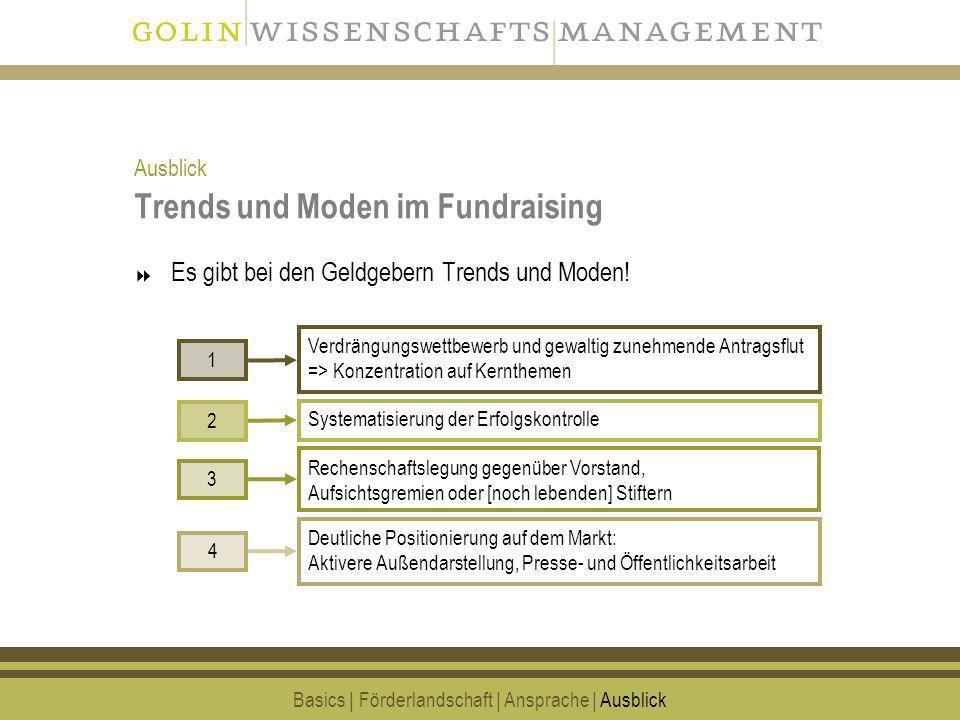 Trends und Moden im Fundraising
