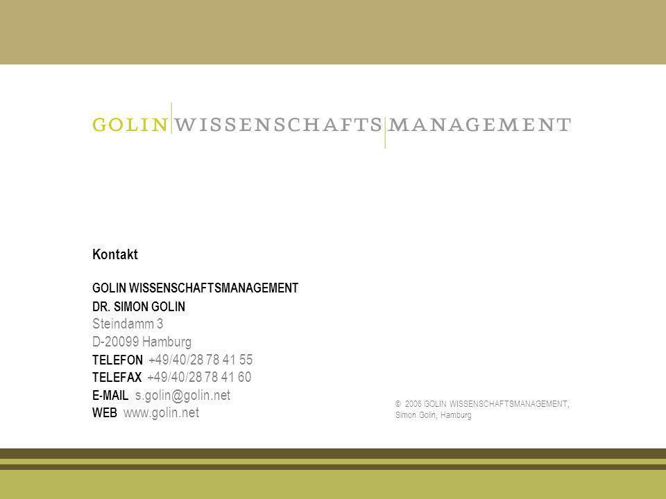 Kontakt GOLIN WISSENSCHAFTSMANAGEMENT