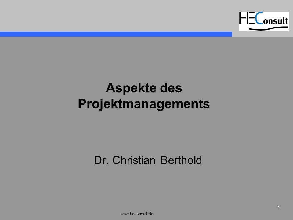 Aspekte des Projektmanagements