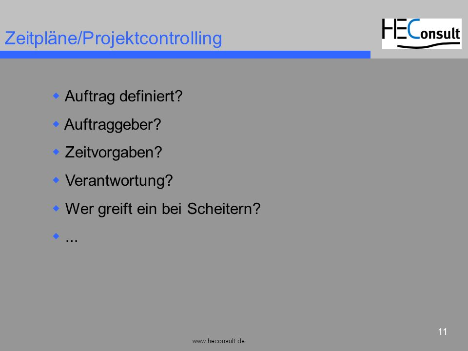 Zeitpläne/Projektcontrolling