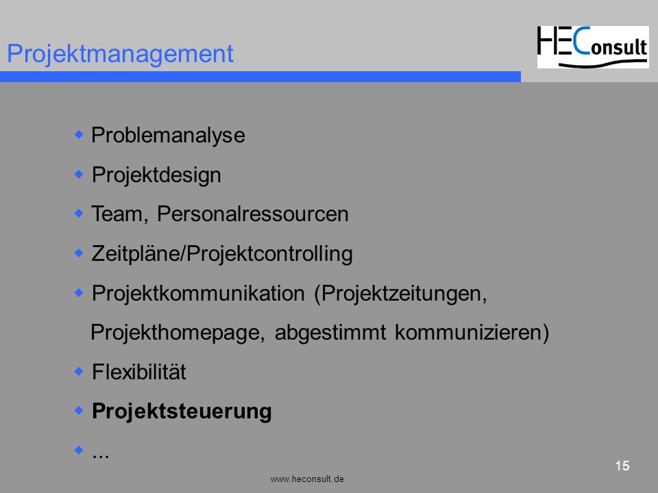 Projektmanagement Problemanalyse Projektdesign