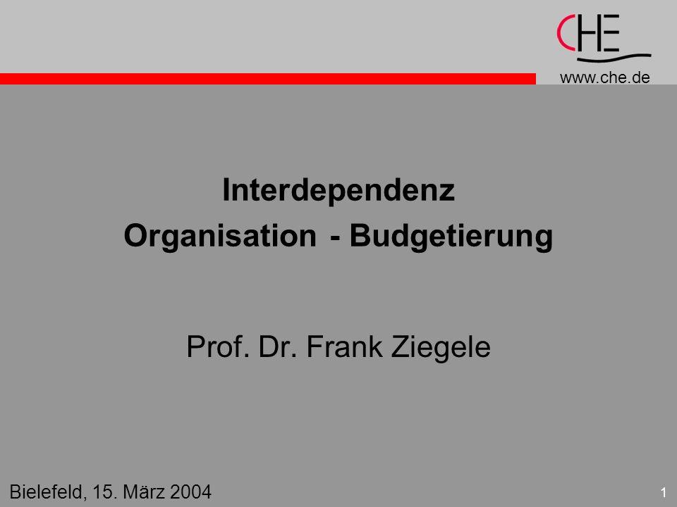 Interdependenz Organisation - Budgetierung