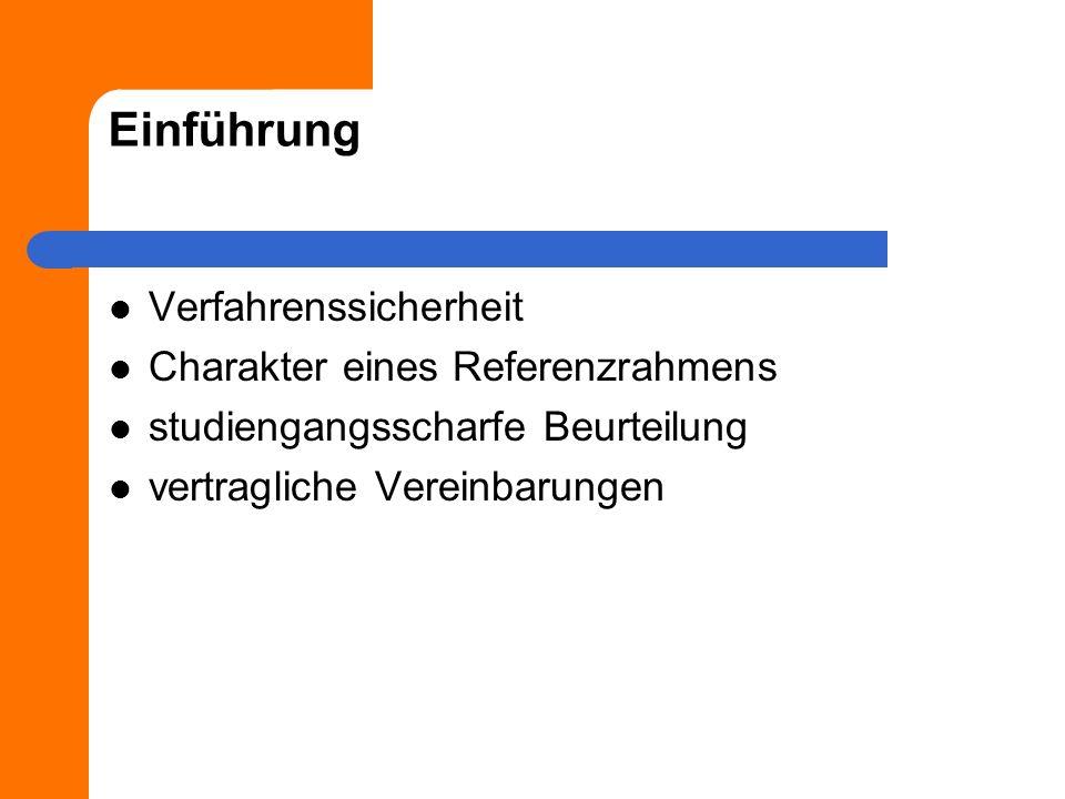 Einführung Verfahrenssicherheit Charakter eines Referenzrahmens