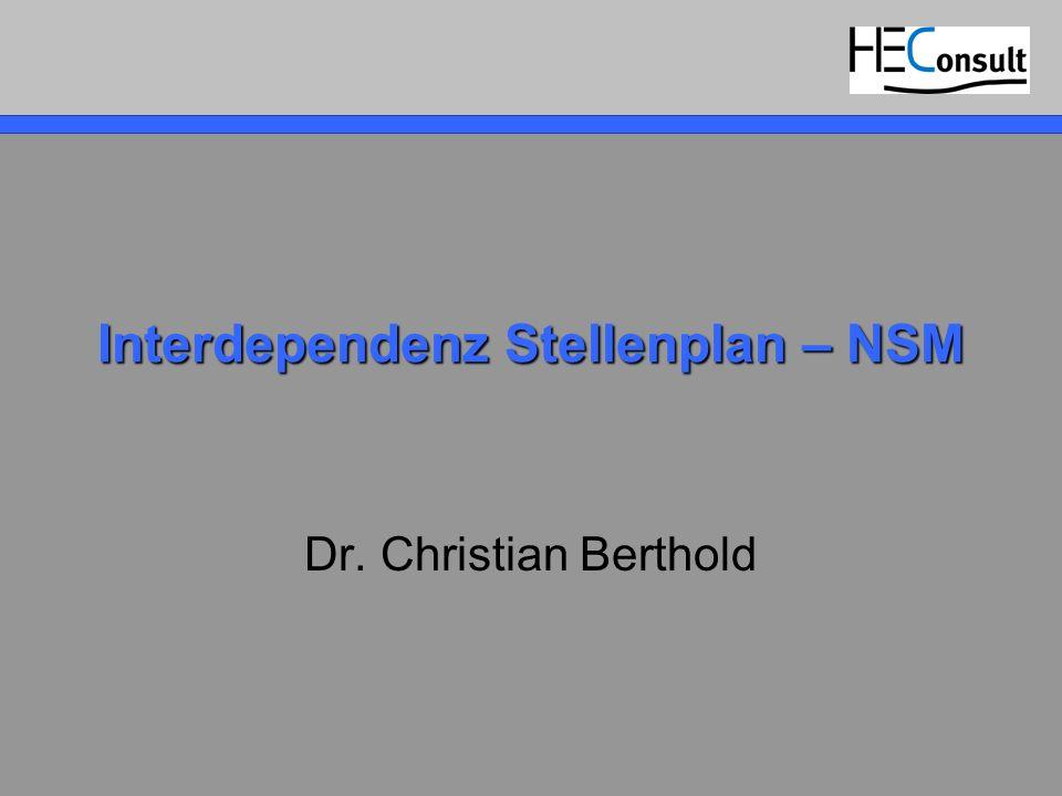 Interdependenz Stellenplan – NSM
