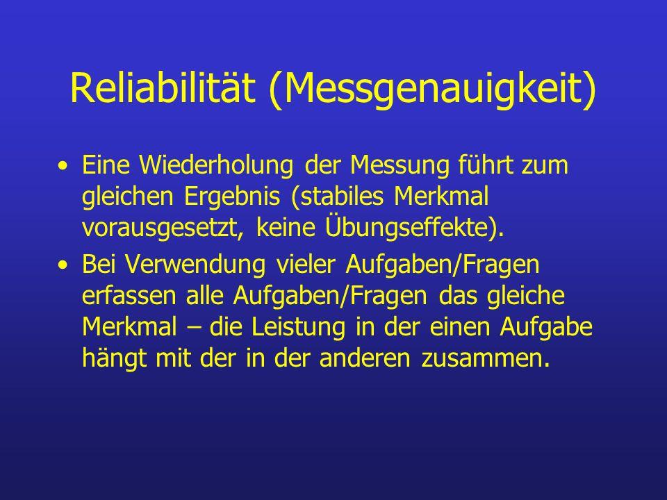 Reliabilität (Messgenauigkeit)