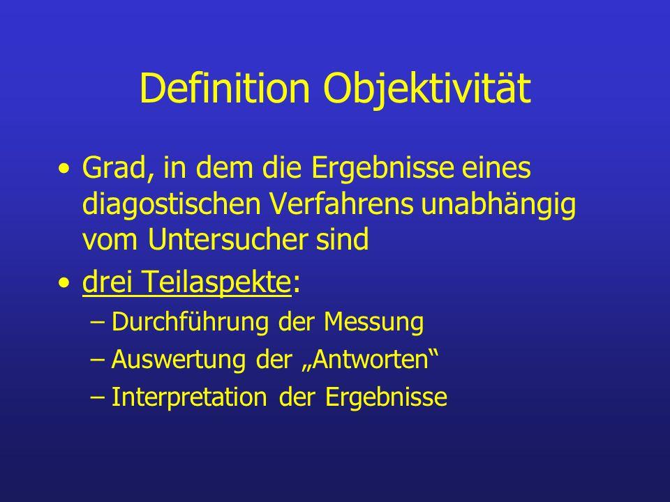 Definition Objektivität